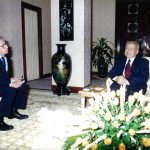 OPCC life member Jim Pringle with King Norodom Sihanouk.