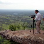 Cameraman James Gerrand and Paul Roy in the Dangrek Mountains where Pol Pot ran his insurgency for many years.