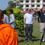 BBC film crew at the Khmer Rouge Tribunal.