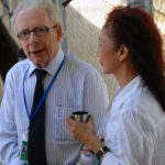 OPCC life member Jim Pringle with wife Milly at the Khmer Rouge Tribunal.