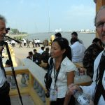 Film maker James Gerrand, journalist Lien Hoang and photographer Roland Neveu.